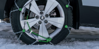 Vše o sněhových řetězech: výběr, typy, nasazení, pravidla